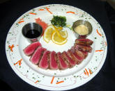 sushi in the florida panhandle? yes, yellowfin tuna at the Hotel Defuniak.